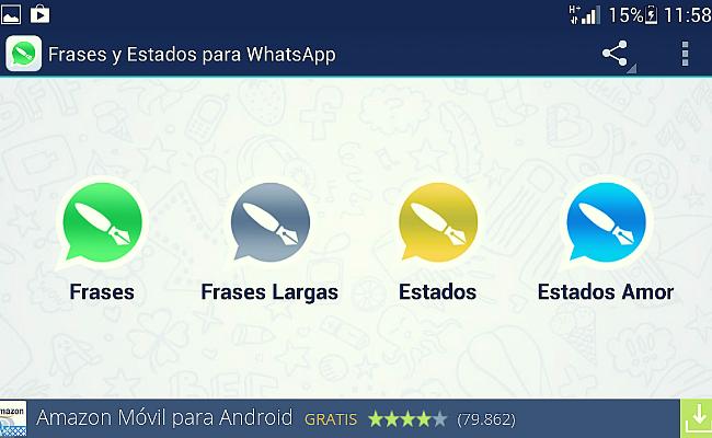 frases y estados de Whatsapp