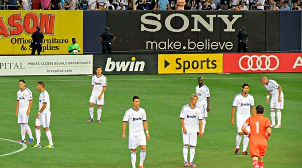 Real Madrid players at yankee stadium